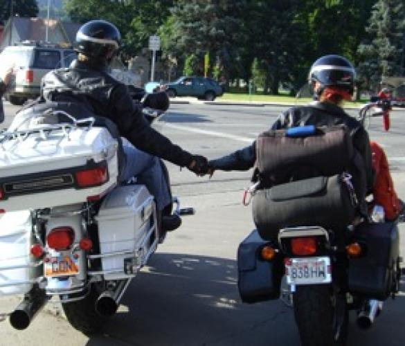 Holding Hands with Laura, Harley Ride 2007