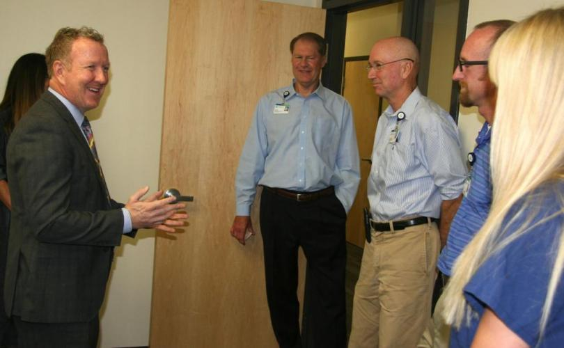 Meeting Jon Ness, CEO & Critical Care Team, Kootenai Health Hospital, Coeur d'Alene 8/15/15